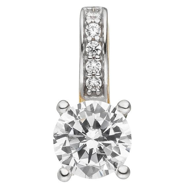 Golden pendant with 6 zirconias 8 carat