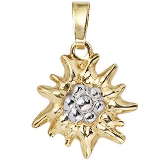 Aurora Patina Gold pendant Edelweiss