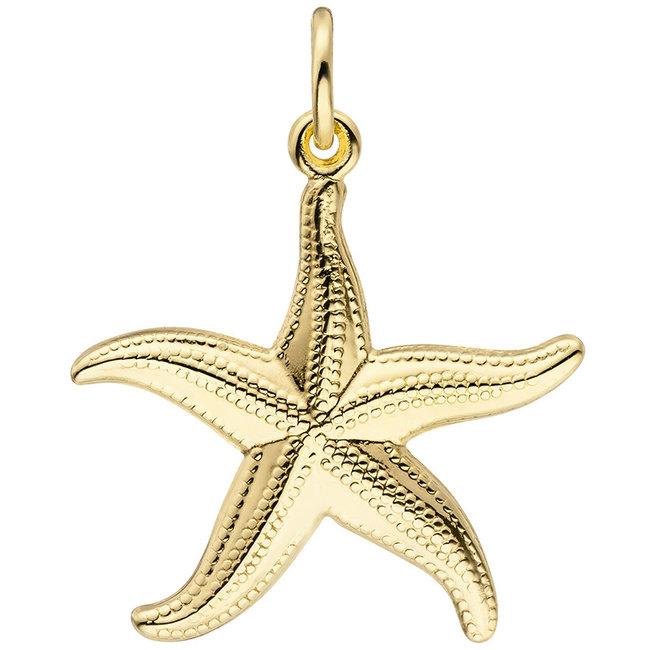 Golden Pendant Starfish 8 Carat