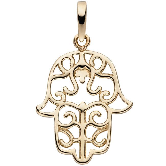 Gouden hanger Fatima's hand 8 karaat 333