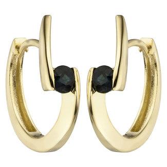 Aurora Patina Golden earrings creoles blue sapphire