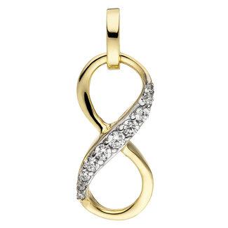 Aurora Patina Golden pendant Infinity zirconia