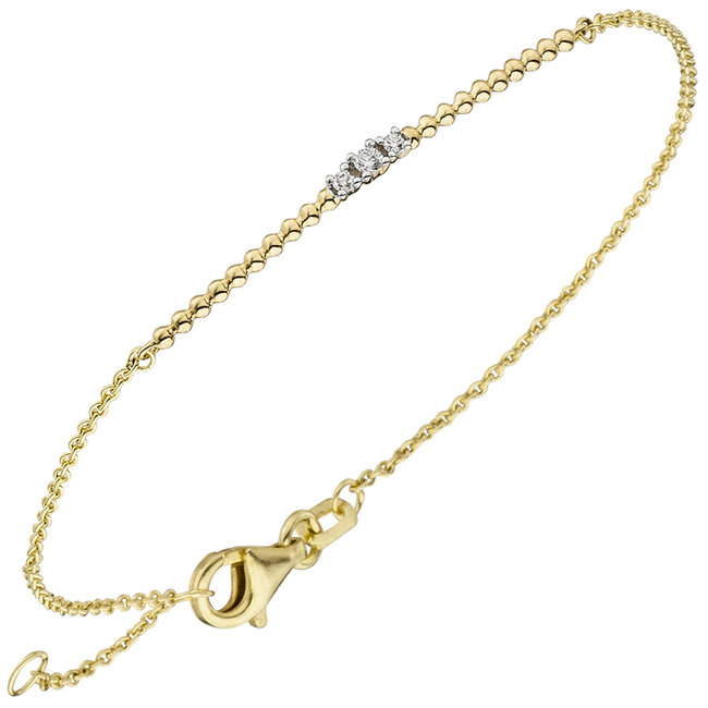 Aurora Patina Gouden armband met 3 briljanten