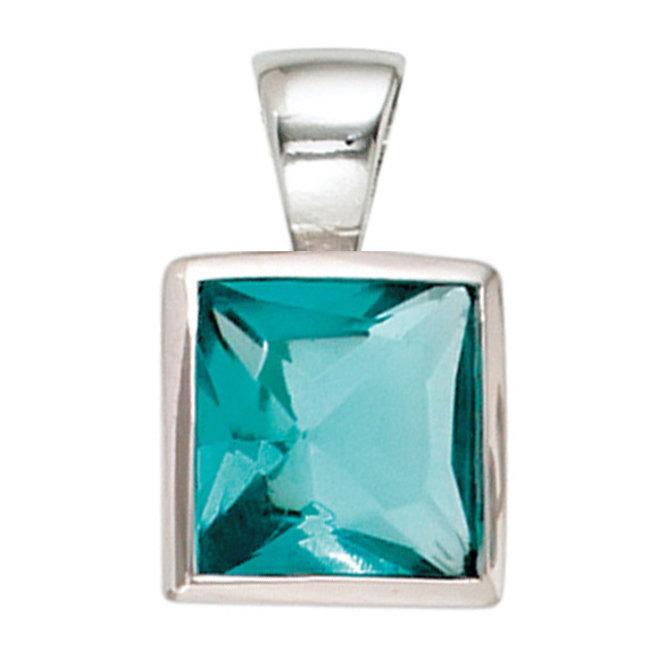 Kettinghanger 925 sterling zilver met turquoise zirkonia