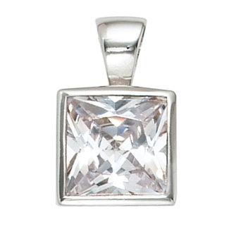 Aurora Patina Silver pendant with white zirconia