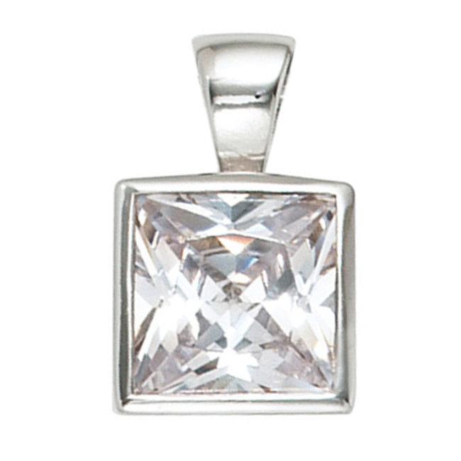 Kettinghanger 925 sterling zilver met witte zirkonia