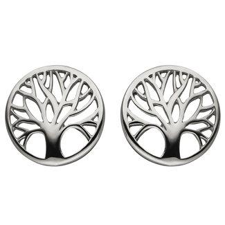 Aurora Patina Silver earstuds Tree of life