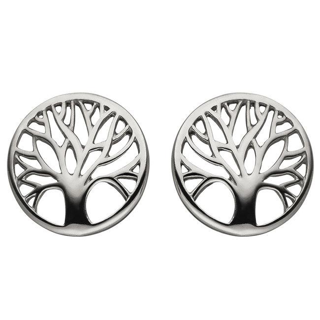 Sterling zilveren oorstekers Levensboom