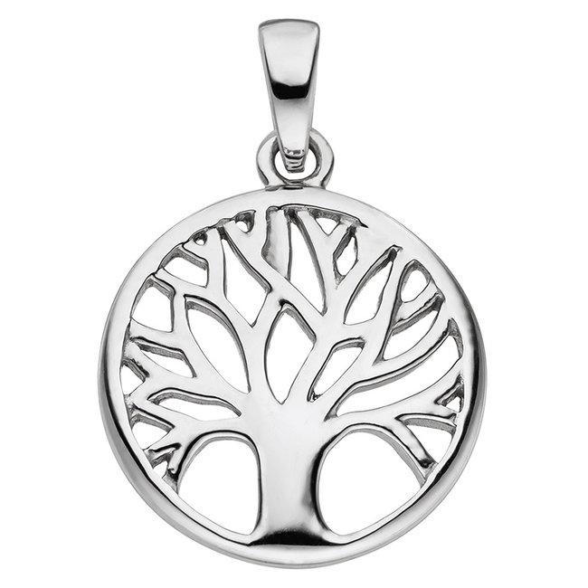 Aurora Patina Zilveren hanger Levensboom