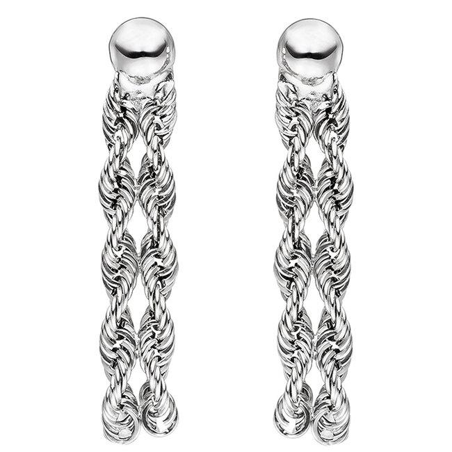Gold earrings 375 white gold