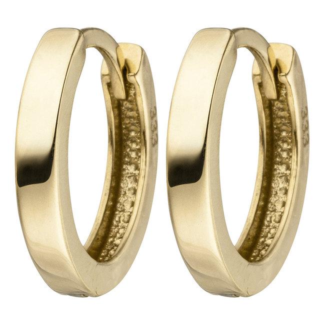Aurora Patina Earrings Gold creoles 12.5 mm