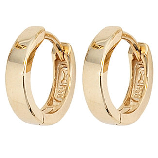 Aurora Patina Earrings Gold creoles 11 mm