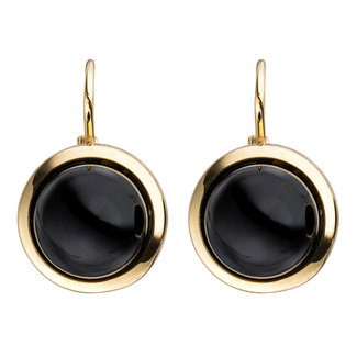 Aurora Patina Golden earrings with  onyx 8ct