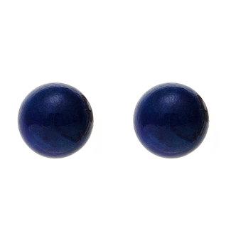 Aurora Patina Golden earstuds with lapis lazuli 5 mm