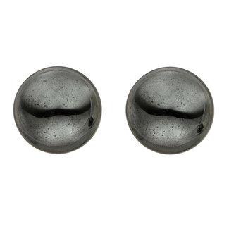 Aurora Patina Gouden oorstekers met hematiet 6 mm