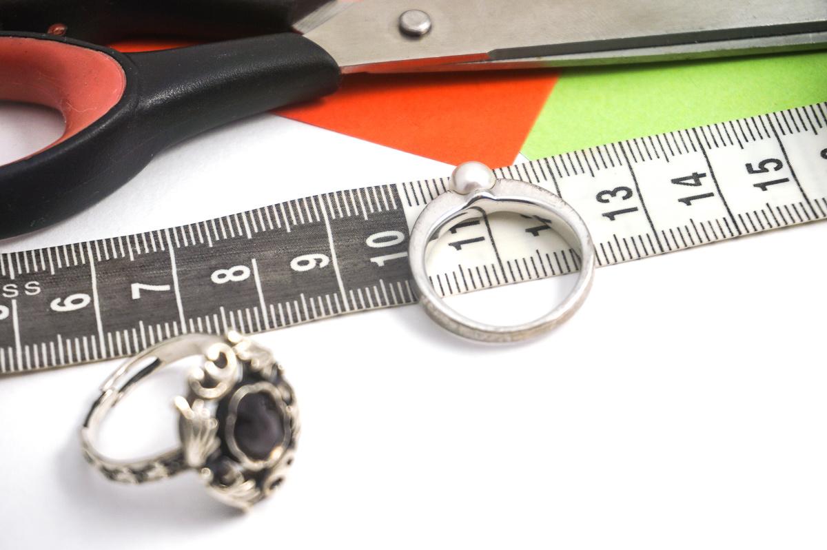 De diameter van een ring meten