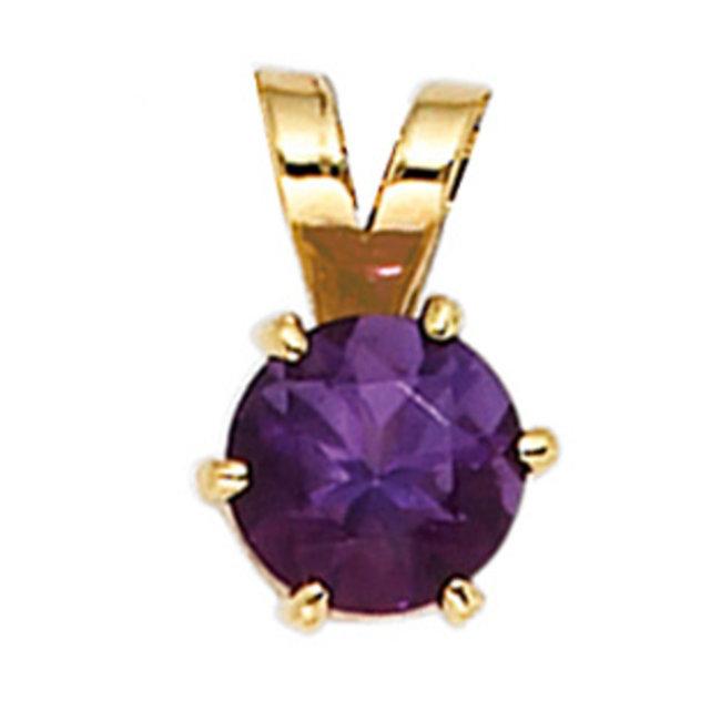 Aurora Patina Gouden hanger met paarse amethist