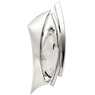 Aurora Patina Zilveren hanger met toermalijn kwarts