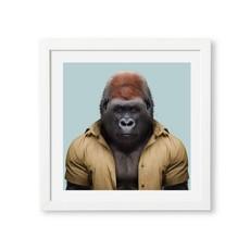 Yago Partal Ingelijste Poster | Western Lowland Gorilla