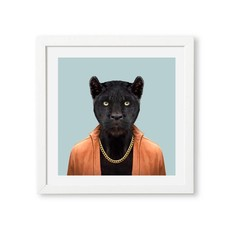 Yago Partal Ingelijst Poster Black Panther