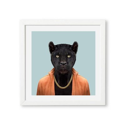 Yago Partal Black Panther Zoo Portrait