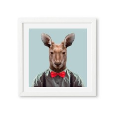 Yago Partal Ingelijste Poster | Red Kangaroo