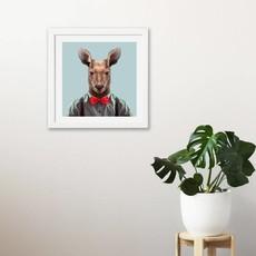 Yago Partal Ingelijst Poster Red Kangaroo