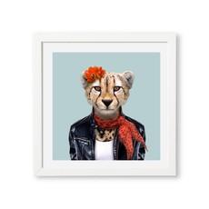 Yago Partal Ingelijst Poster Cheetah van Yago Partal