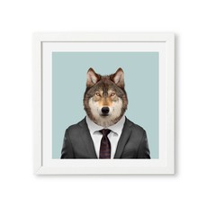 Yago Partal Ingelijste Poster | Grey Wolf