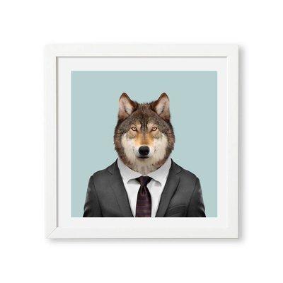 Yago Partal Grey Wolf Zoo Portrait