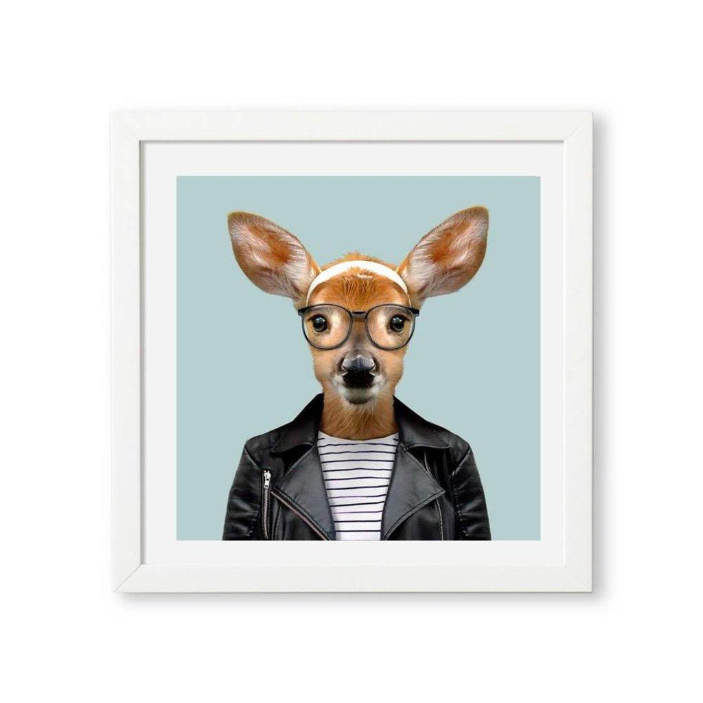 Yago Partal Ingelijste Poster | White Tailed Deer