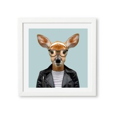 Yago Partal Ingelijst Poster White Tailed Deer