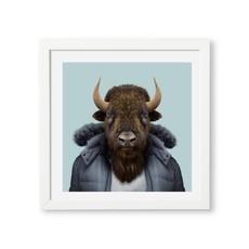 Yago Partal Framed Art Print | American Bison