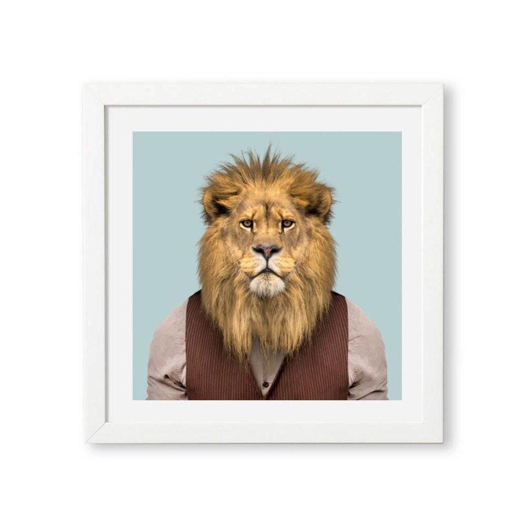 Yago Partal Framed Art Print | Lion