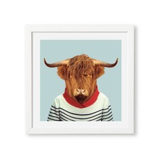 Yago Partal Ingelijst Poster Scottish Cow