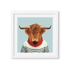 Yago Partal Ingelijste Poster | Scottish Cow