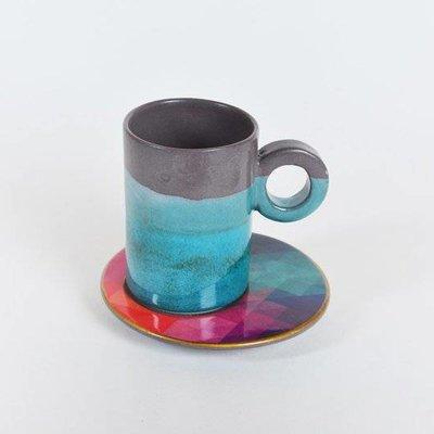 Koffie Kopje Pixel Print