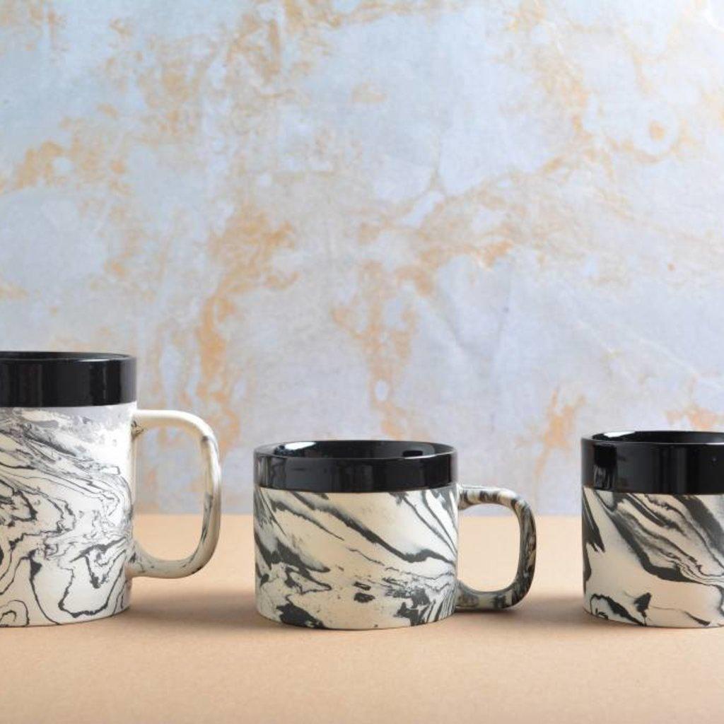 Kinta Marblelook Ceramic Cup   Black