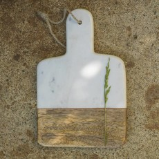 Dassie Artisan Mini Marmer-Mangohout Plankje Wit /