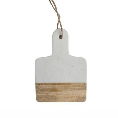 Dassie Artisan Mini Marmer-Mangohout Plankje Wit