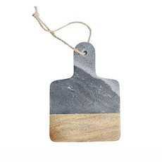 Dassie Artisan Mini Marmeren Plank - Mangohout- Grijs