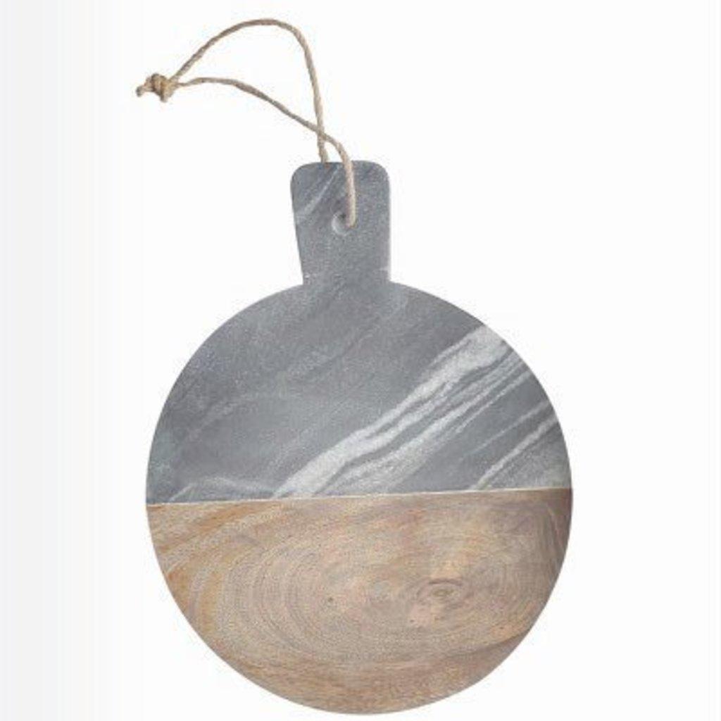 Dassie Artisan Ronde Marmer-Marngohout serveer en snijplank