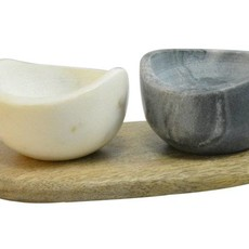 Dassie Artisan Marble Herbs and Sauce Bowls