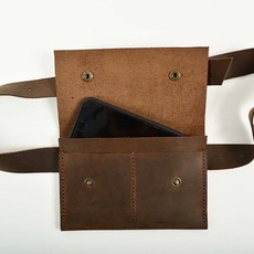 Leather Waist Bag Flat Model