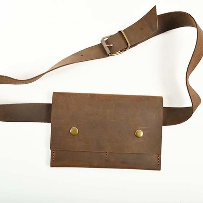 Leather Waist Bag Flat Model