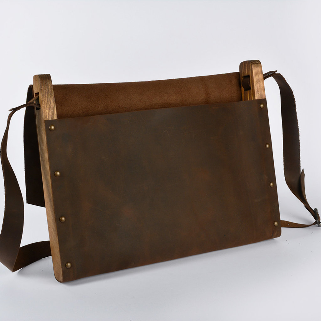 Leather Brown Messenger Bag