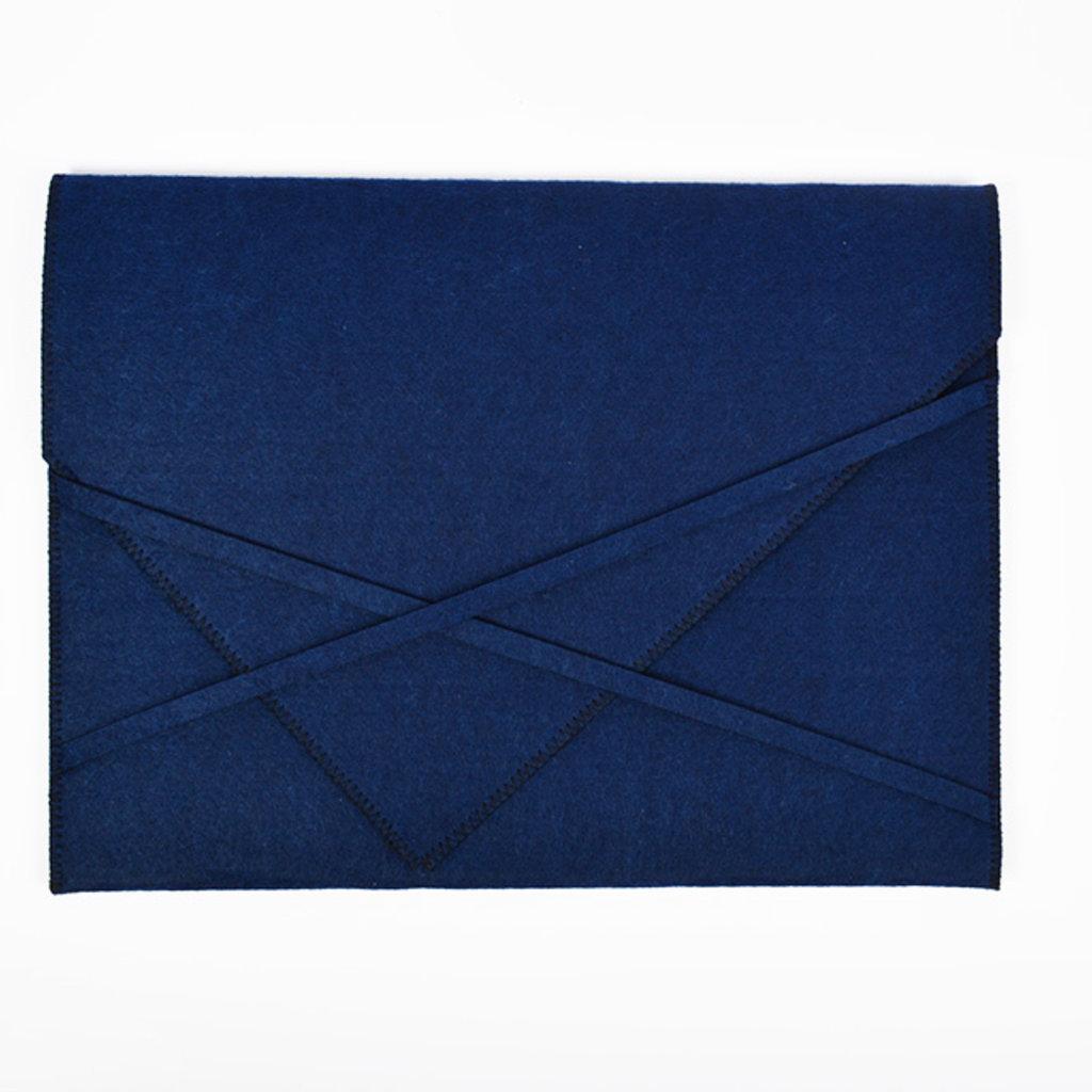 Felt Laptop Sleeve Blue