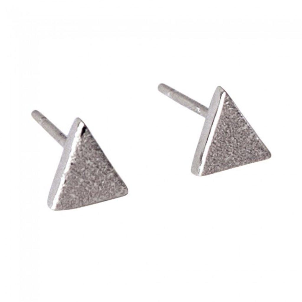 By Lauren Amsterdam Triangle Silver Earrings