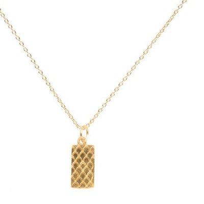 By Lauren Amsterdam Goldbar Snakeprint Necklace