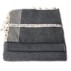 Lantara Birdeye Black Hammam Towel